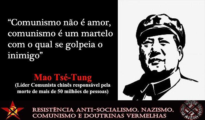 A tapeação comunista.