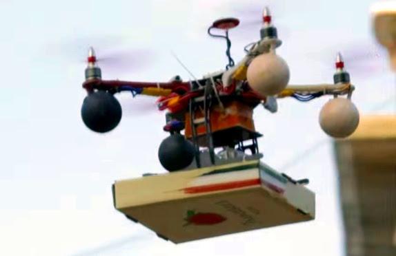 Nganter pizza pake Drone ! India emang canggih !