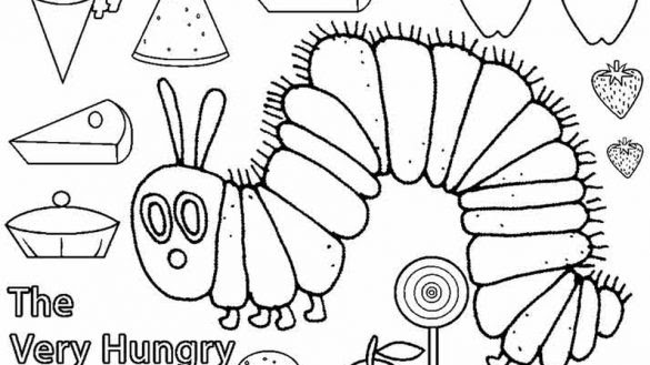 Very Hungry Caterpillar Coloring Page - Bilscreen