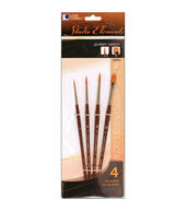 Golden Taklon Rd Shdr Set Of 4