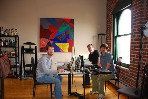 Nate, me and Glen working in my loft