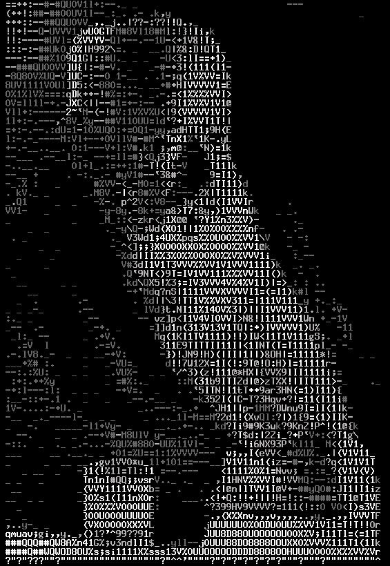 josef holecek in ascii art version 4