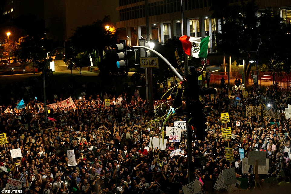 Image result for Los Angeles, Inaugural Protest, 2017, Trump