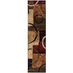 """""""Oriental Weavers Sphinx Hudson 2544B 1'10"""""""" x 7'6"""""""" Runner Brown / Black Area Rug"""""""