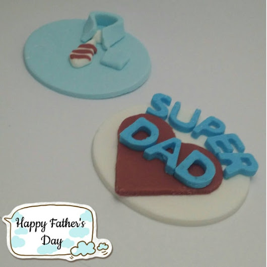 12 X Edible fondant cupcake toppers  Father's by MadisonKollection