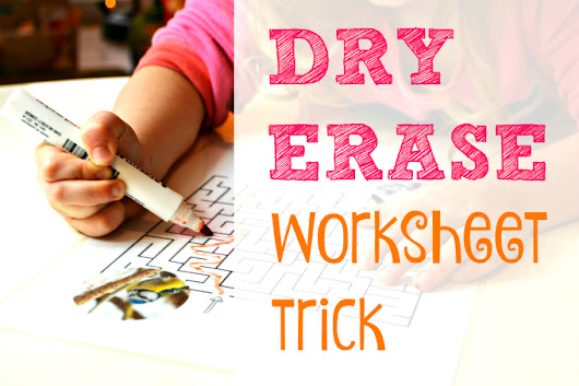 Dry Erase Worksheet Trick