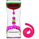 Lolo Toys Liquid Motion Bubbler Fidget Timer – 2 PC Set Bundle Stretchy String Sensory Toys for Stress Relief and Anxiety Relief