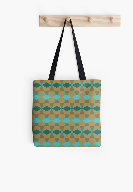 'Modern Geometric Design 1' Tote Bag by cozysweet