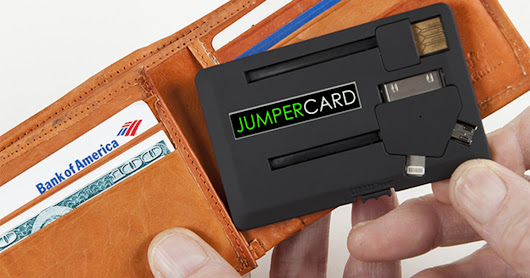 JUMPER CARD - Put a Phone Charger in Your Wallet!