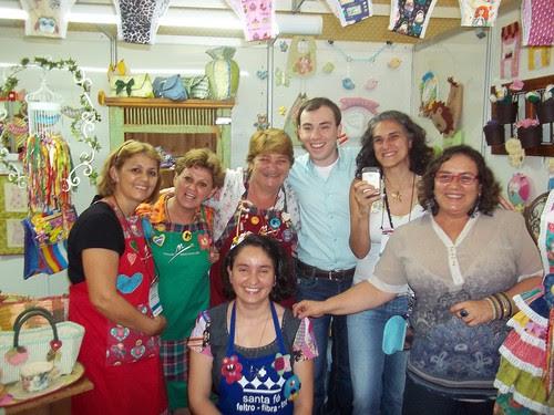 EU,Edila,Jakie,Rogerio,Cristine, Priscila e Rita Mazzotti by Vera Arte em Giz