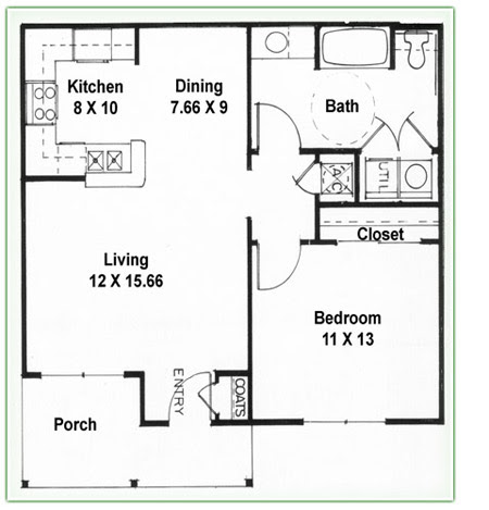1 Bedroom House Plans Pdf Autocad Design Pallet Workshop