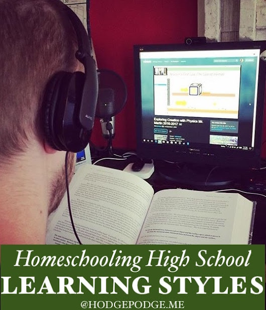 Homeschooling High School Learning Styles - Hodgepodge