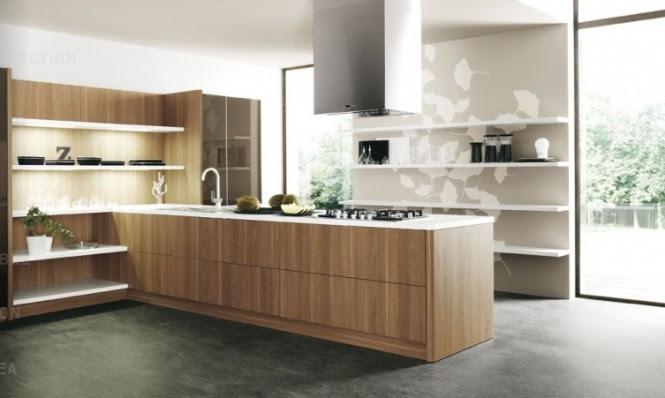wood slab modern kitchen units