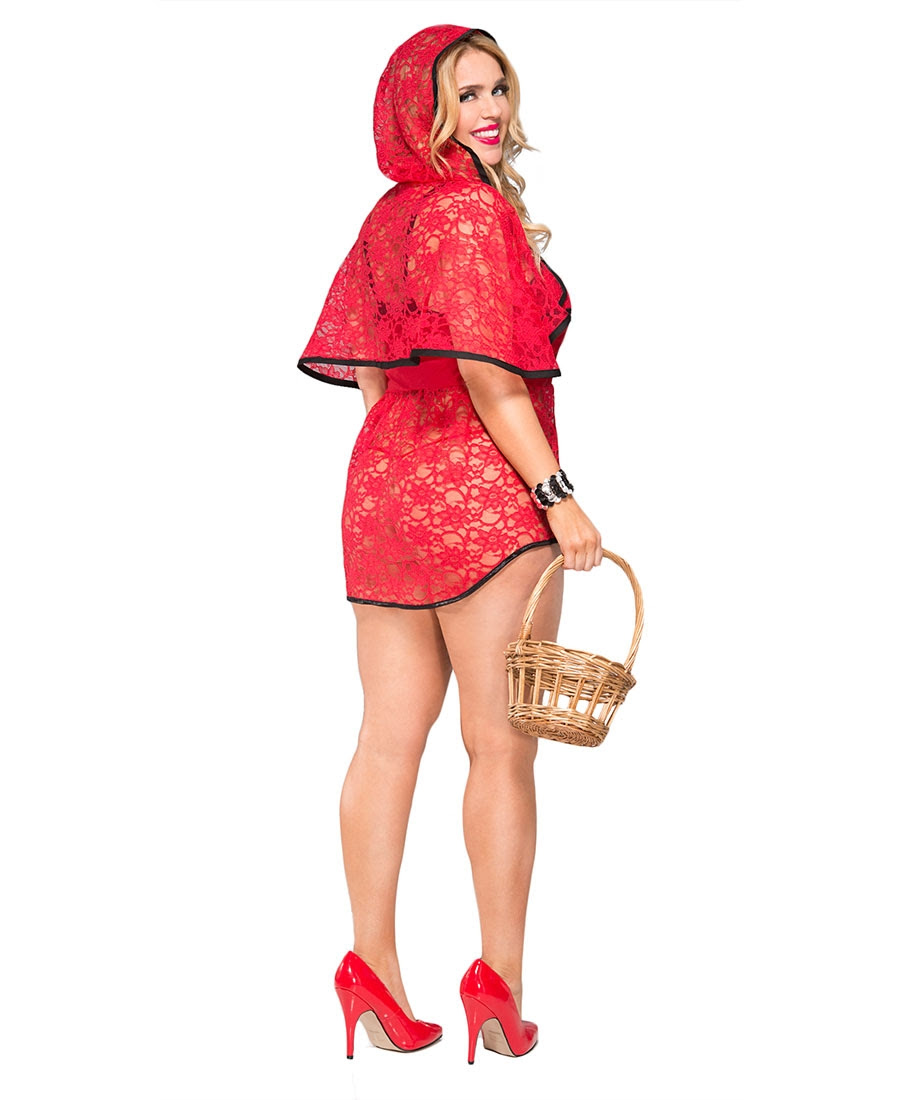 plus size beautiful riding hood bedroom costume  music