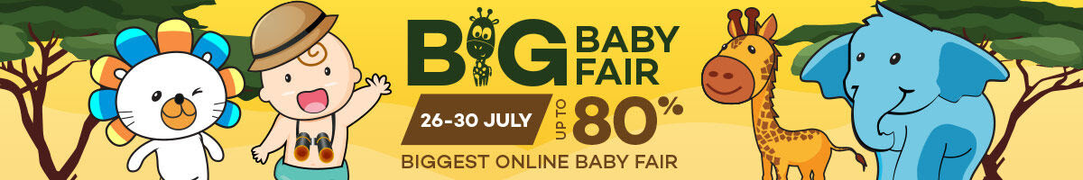 Lazada BIG Baby Fair  26 July To 30 July 2017