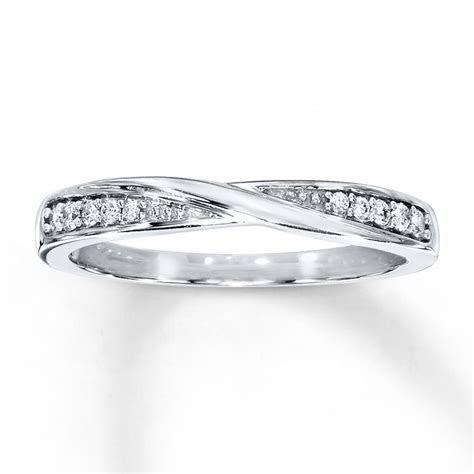 Kay   Diamond Wedding Band 1/15 ct tw Round cut 10K White