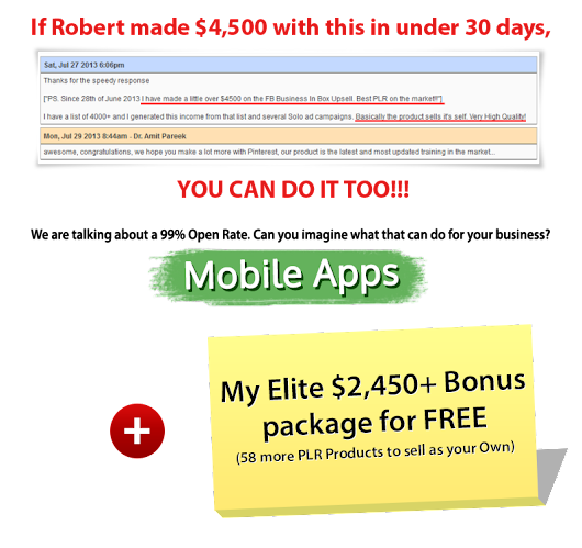 Mobile Apps Business In a Box Monster PLR Review And Mega Bonus Pack