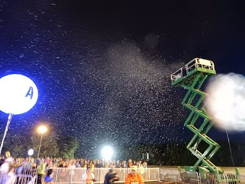 snowmasters T 1500 snow machine with professional results just like Disney. Rentals sales or full service falling snow machines. Zigmont Magic F/X specializes in evaporative snow special effects