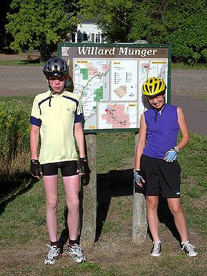 Henry and Geneva at the Willard Munger trailhead