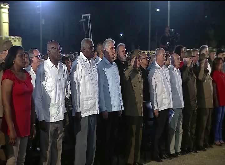 Presiden Raúl Castro y Díaz-Canel acto nacional por el 26 de Julio