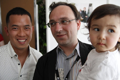 Ming Jin with Jeremy and his daughter