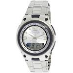 Casio Men's Core AW82D-7AV Grey Stainless-Steel Quartz Sport Watch