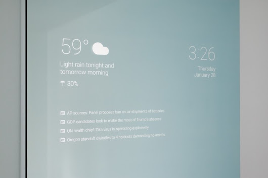 [Mirror, Mirror On The Wall] Google Engineer Builds Android-Powered Bathroom Mirror