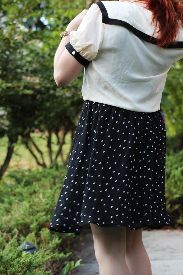 Nautical Sailor Blouse and Polka Dot Dress
