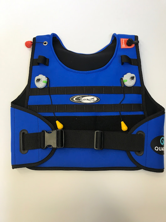 limited edition quatic inflatable jeff clark surf vest tow  | Towsurfer.com