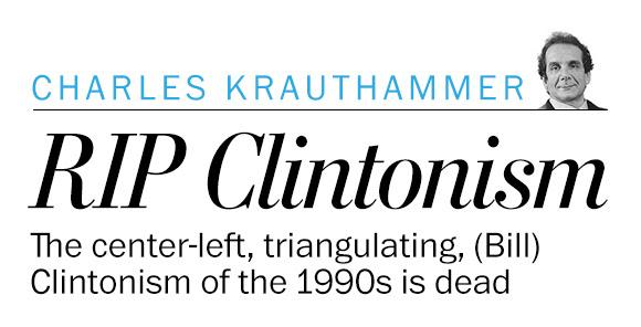 Clintonism, RIP