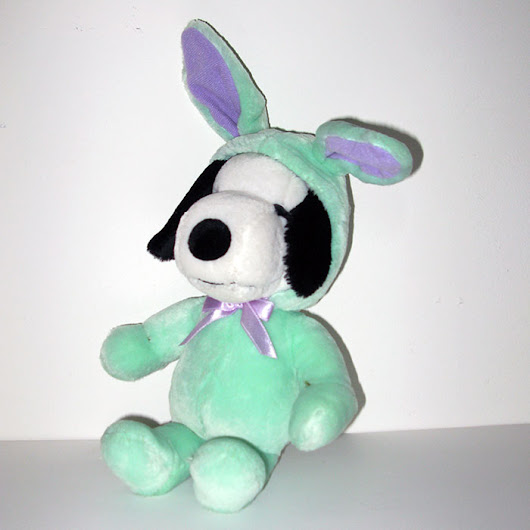 Snoopy Green Easter Beagle Plush
