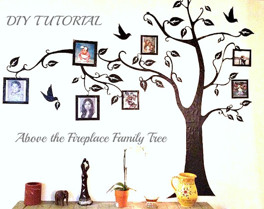 DIY - Above The Fireplace Family Tree #DIY #crafts -