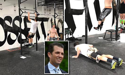 Donald Trump Jr. spends Memorial Day by working out