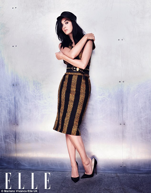 Famous friend: Katy Perry opens up on her friendship with Robert Pattinson in the new issue of ELLE UK magazine