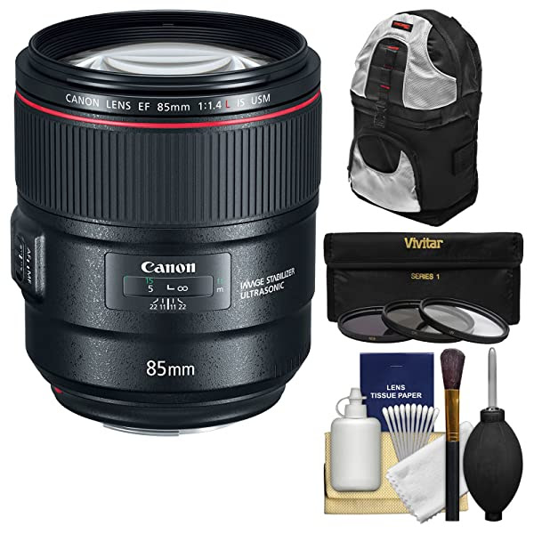 Canon Ef 85mm F14l Is Usm Lens With 3 Uvcplnd8 Filters