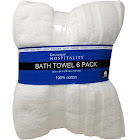 Grandeur Hospitality Bath Towel 100% Cotton, 30x54 Inches - 6 Pack