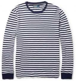 Polo Ralph Lauren Striped Fine-knit Cotton-jersey T-shirt