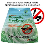 Greenerways Organic Mosquito Repellent Zone - Non-Toxic Organic Insect Repellent All Natural