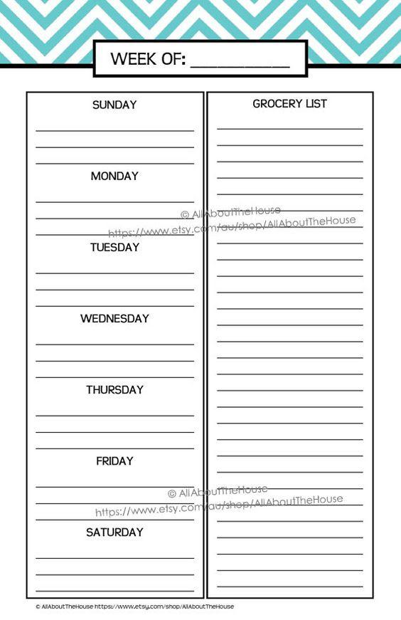 Printable Planner daily planner weekly planner calendar diary PDF ...