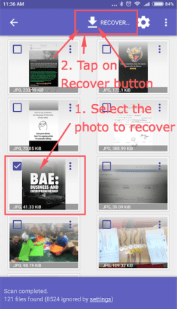 Disk Digger Image Recovery Android