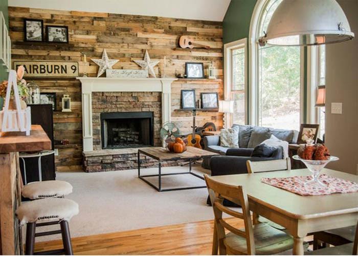 eclectic rustic living room