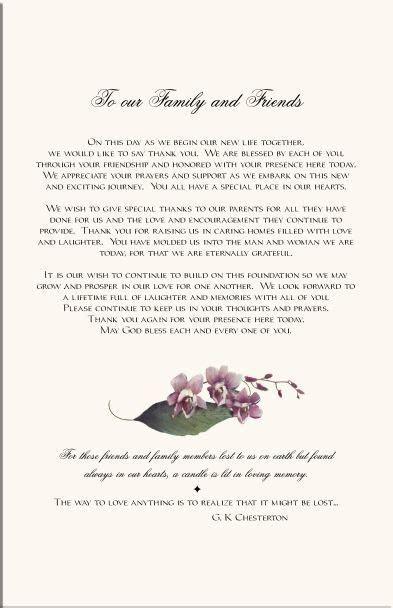 wedding programs   Orchid Wedding Program Examples Wedding