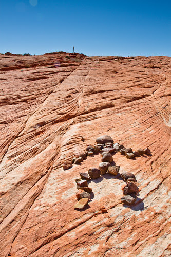 person image formed with rocks, Valley of Fire State Park