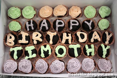 timothy birthday cupcakes