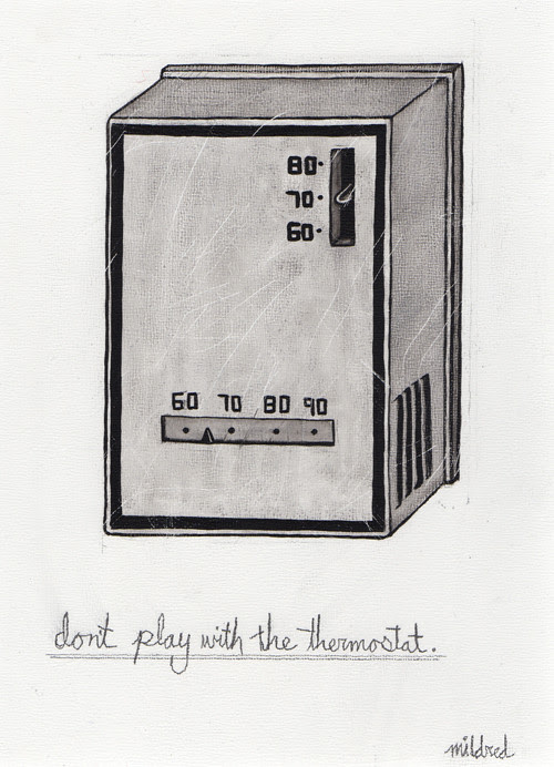 """8x10"""" thermostat painting"""