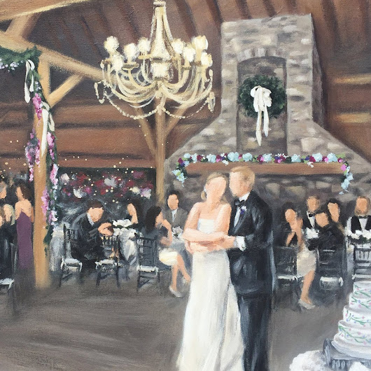 Live Wedding Painting - An Elegant Barn Wedding in Northern Baltimore County Maryland