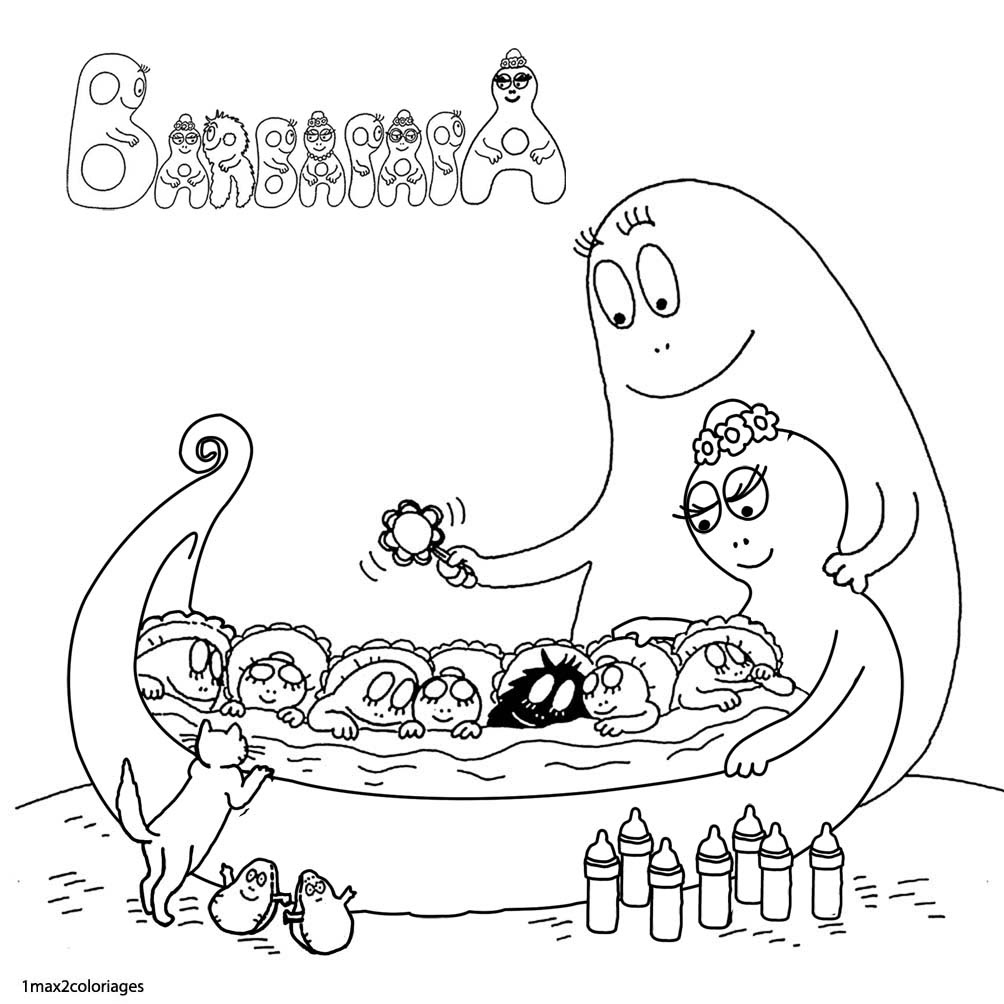 coloriages Barbapapa