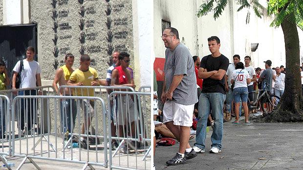 montagem fila Vasco x Flamengo (Foto: Editoria de Arte / GLOBOESPORTE.COM)