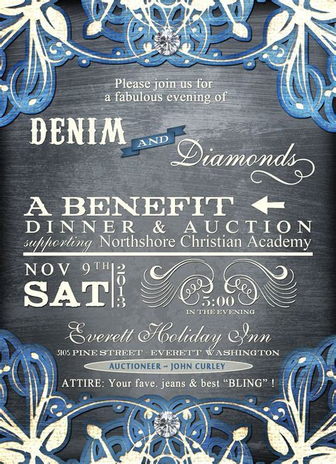 Denim and Diamonds   MCCS Auction ideas   Denim party