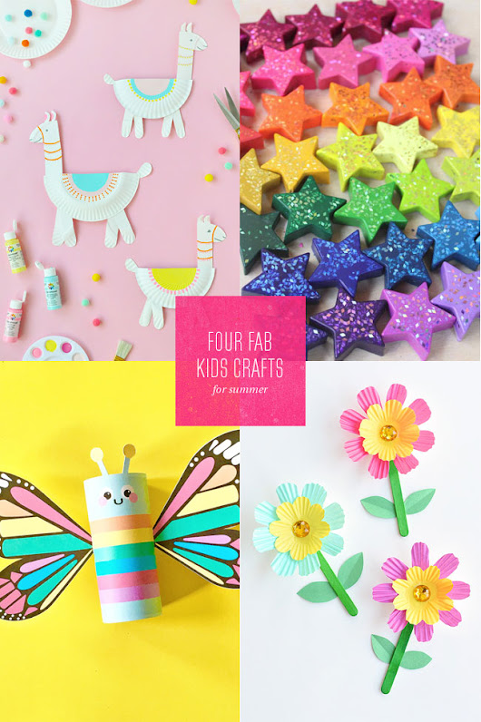 4 Fab Summer Paper Craft Ideas for Kids - Paper Crave